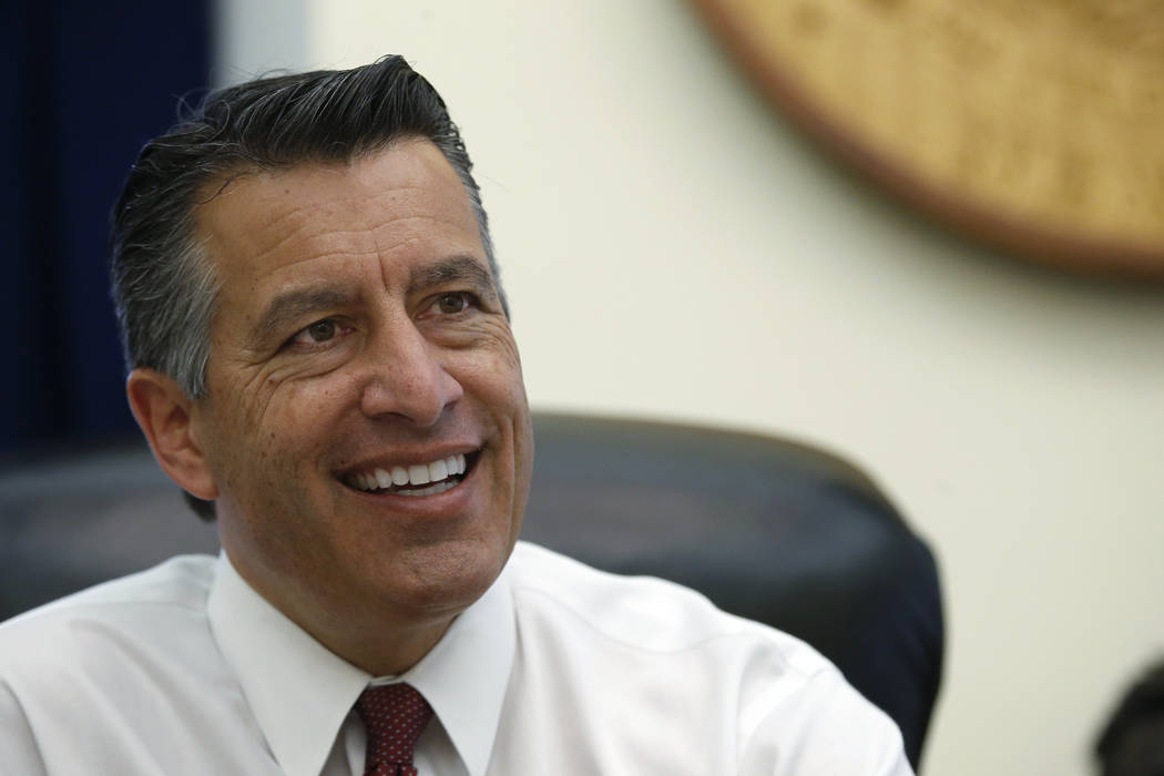 El ex gobernador de Nevada, Brian Sandoval, fue nombrado presidente de desarrollo global de juegos para MGM Resorts International el martes 8 de enero de 2019. (Cathleen Allison / Las Vegas Review ...