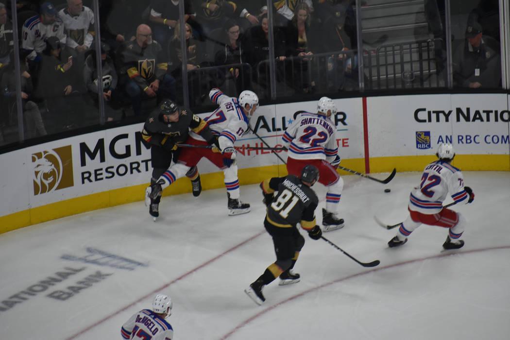 Vegas Golden Knights derrotó a New York Rangers en un juego ríspido disputado en Las Vegas. Martes 8 de enero de 2019 en T-Mobile Arena. Foto Anthony Avellaneda / El Tiempo.