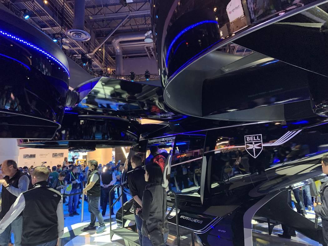 """El auto volador """"Bell Nexus"""" de Bell se presentó en el CES el martes 9 de enero de 2019. (Mick Akers / Las Vegas Review-Journal)"""