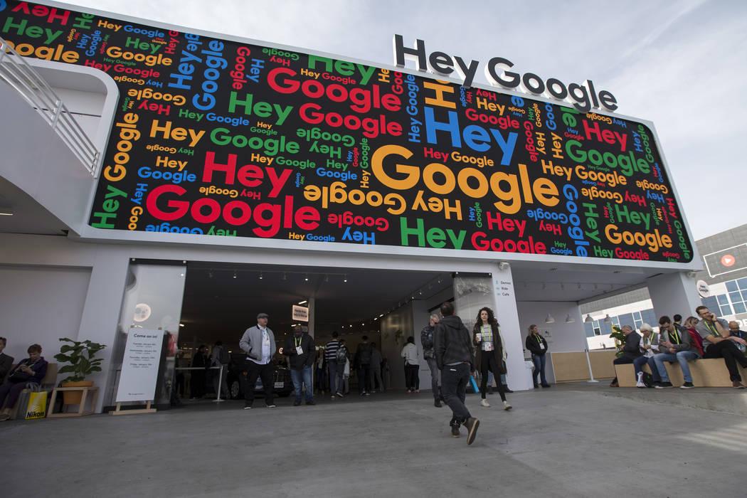 Exterior del puesto de Google en el primer día del CES en el Centro de convenciones de Las Vegas en Las Vegas el martes 8 de enero de 2019. Richard Brian Las Vegas Review-Journal @vegasphotograph