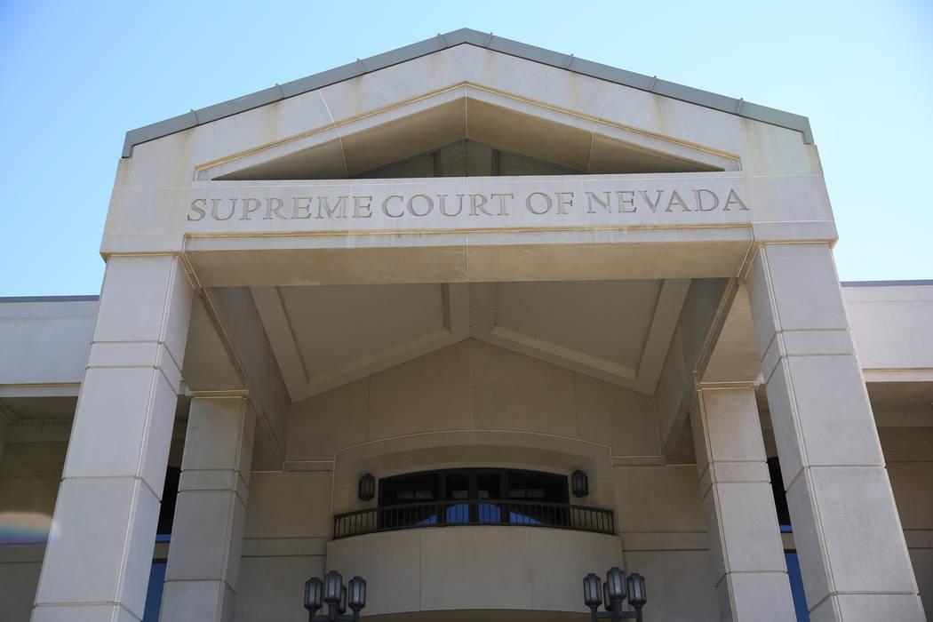 El edificio de la Corte Suprema de Nevada (David Guzmán / Las Vegas Review-Journal)
