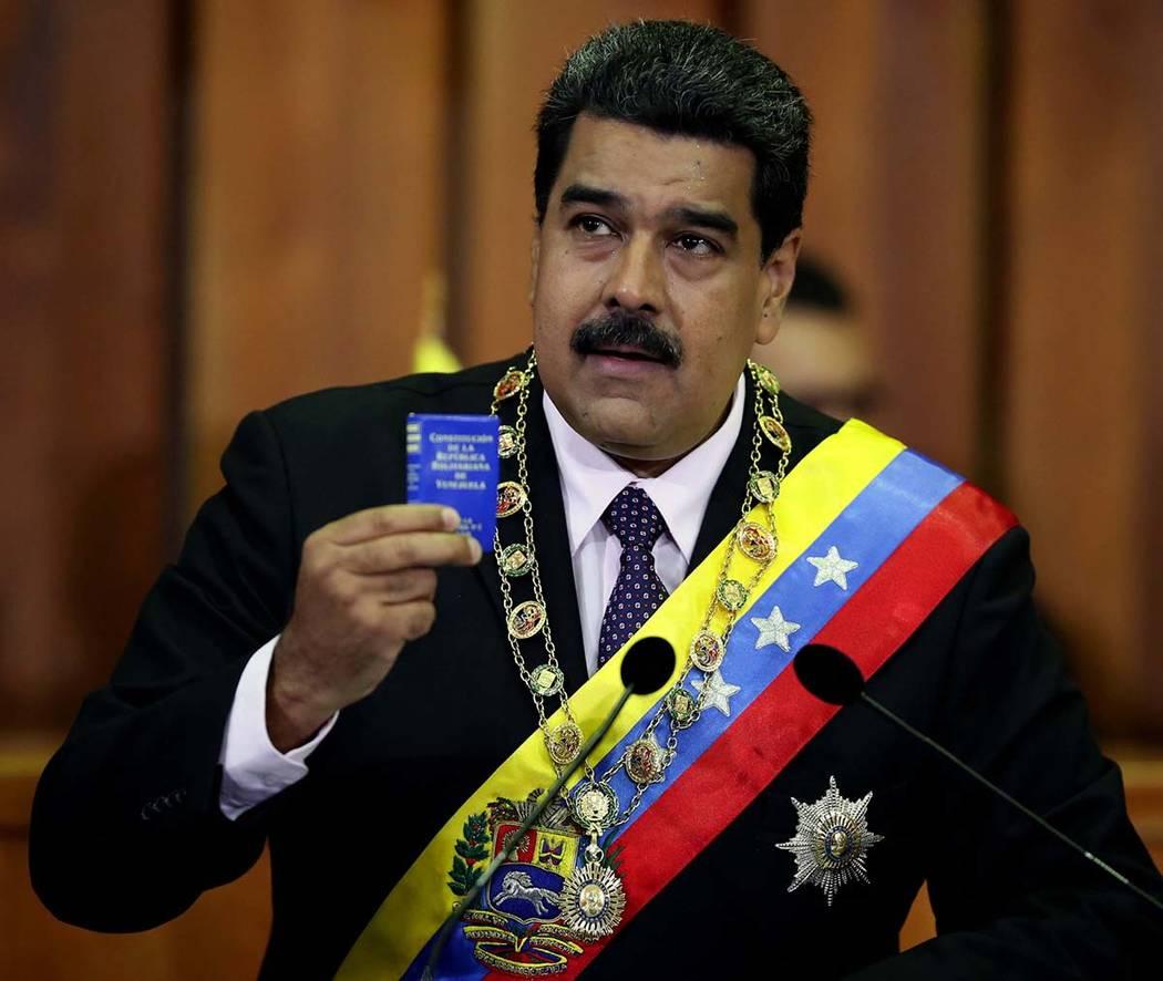 Archivo. Caracas, 26 Dic 2018 (Notimex-Especial).- El presidente de Venezuela, Nicolás Maduro, terminó 2018 afianzado en el poder tras las polémicas elecciones de mayo, las cuales fueron descon ...