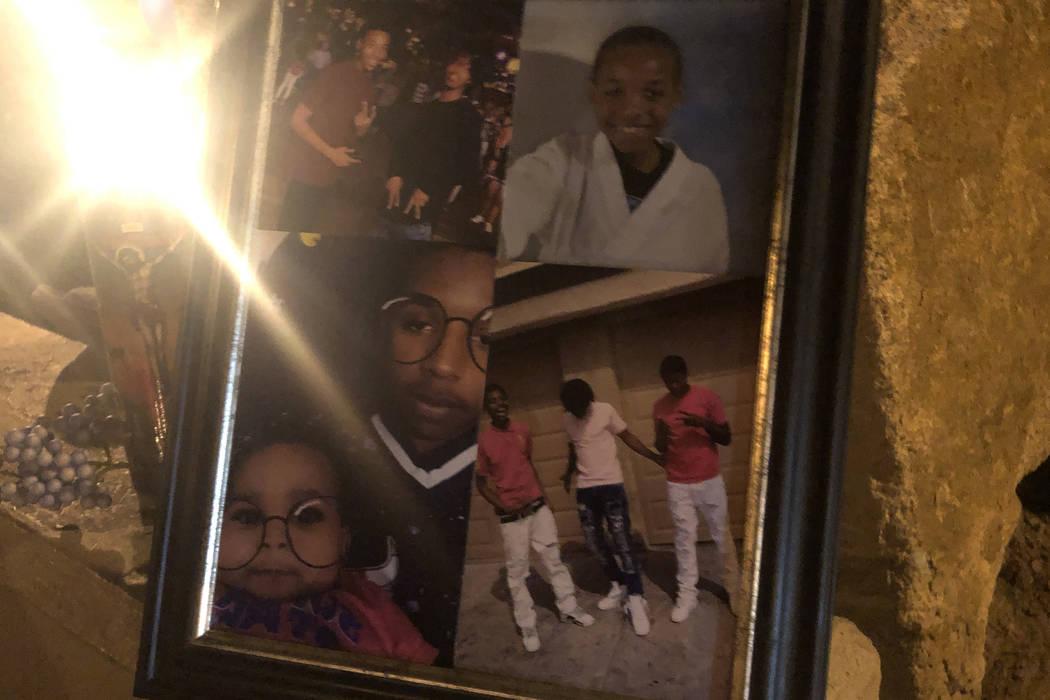 Fotos que muestran a Aneas King, de 16 años, en un velorio el 10 de enero de 2019. El menor recibió un disparo mortal en el lugar del velorio, San Miguel Avenue y Coleman Street, en North Las Ve ...