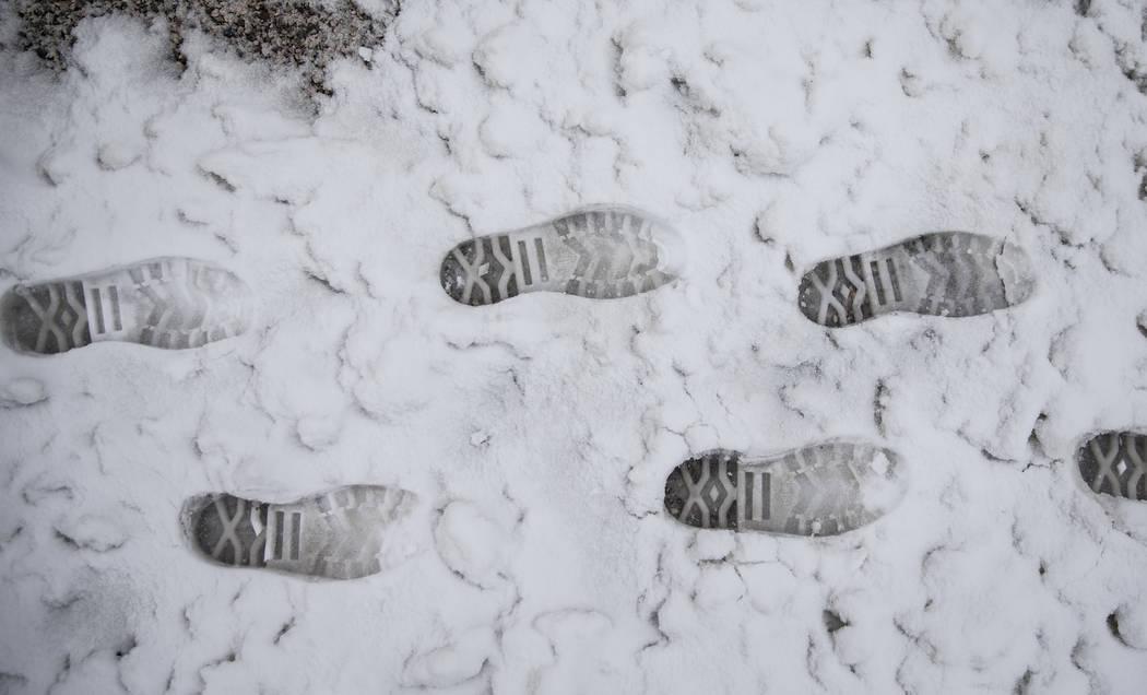 Las fuertes nevadas no mantuvieron a los excursionistas alejados de Mount Charleston el martes 15 de enero de 2019, en Las Vegas. Benjamin Hager Las Vegas Review-Journal