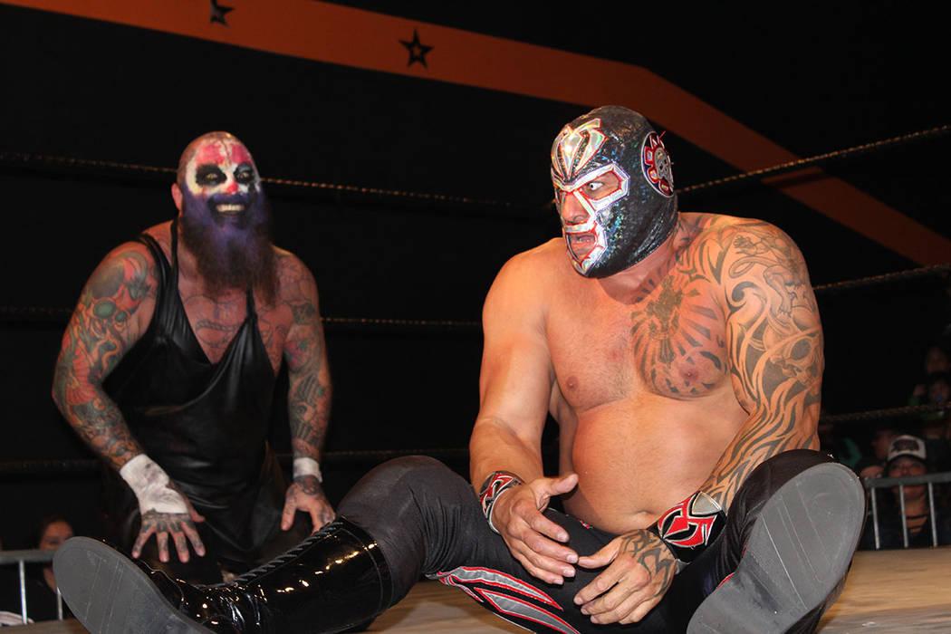 Mil Muertes es miembro de Lucha Underground y fue la estrella del cartel de FSW. Domingo 20 de enero de 2019 en arena FSW. Foto Cristian De la Rosa / El Tiempo - Contribuidor.