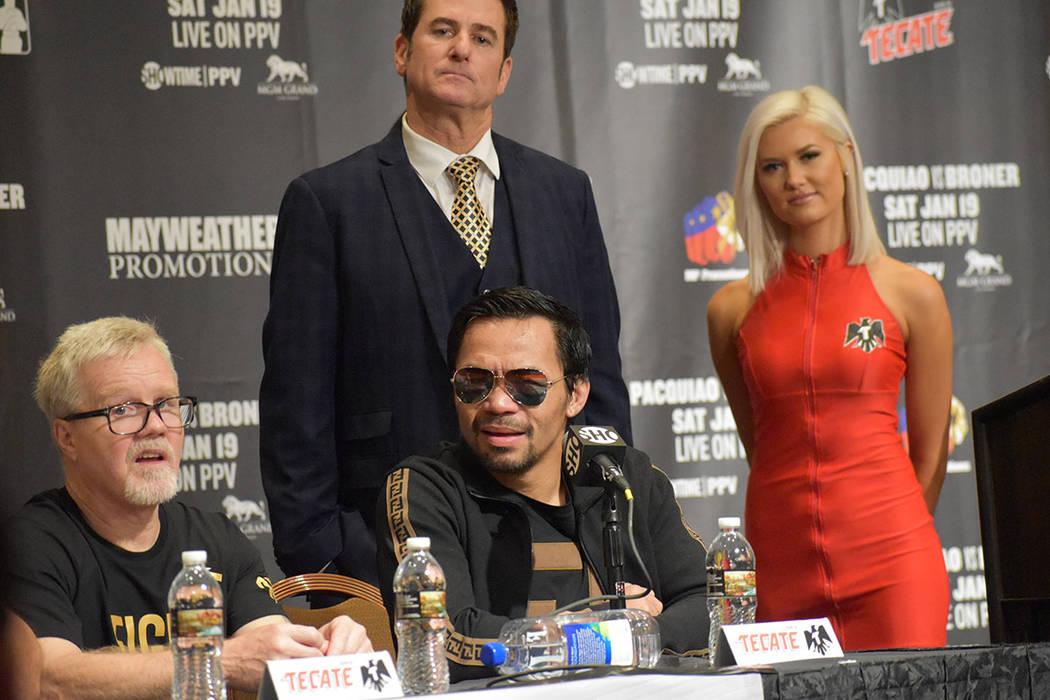 """Manny """"Pacman"""" Paquiao demostró que no le afectó su retiro de casi dos años fuera del cuadrilátero, manifestó que desea otras dos peleas más y luego se retirará definitivamente. Sábado ..."""