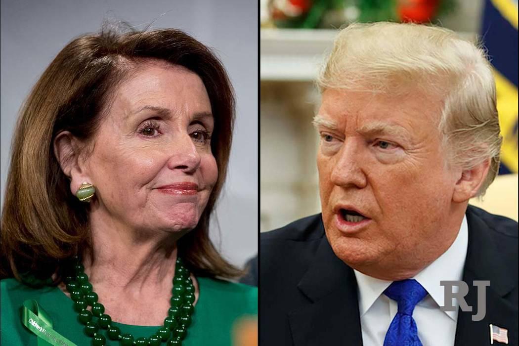La presidenta de la Cámara de Representantes Nancy Pelosi y el presidente Donald Trump (AP)
