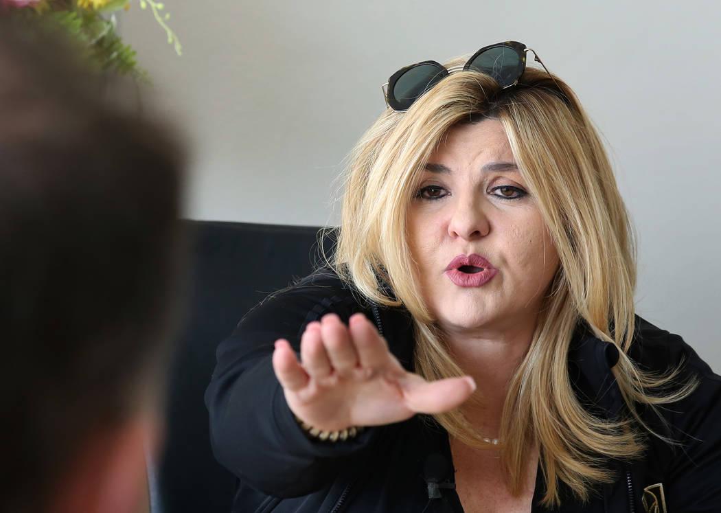 La concejala Michele Fiore habla durante una entrevista con el Las Vegas Review-Journal el lunes 21 de enero de 2019 en Las Vegas. Bizuayehu Tesfaye / Las Vegas Review-Journal @bizutesfaye