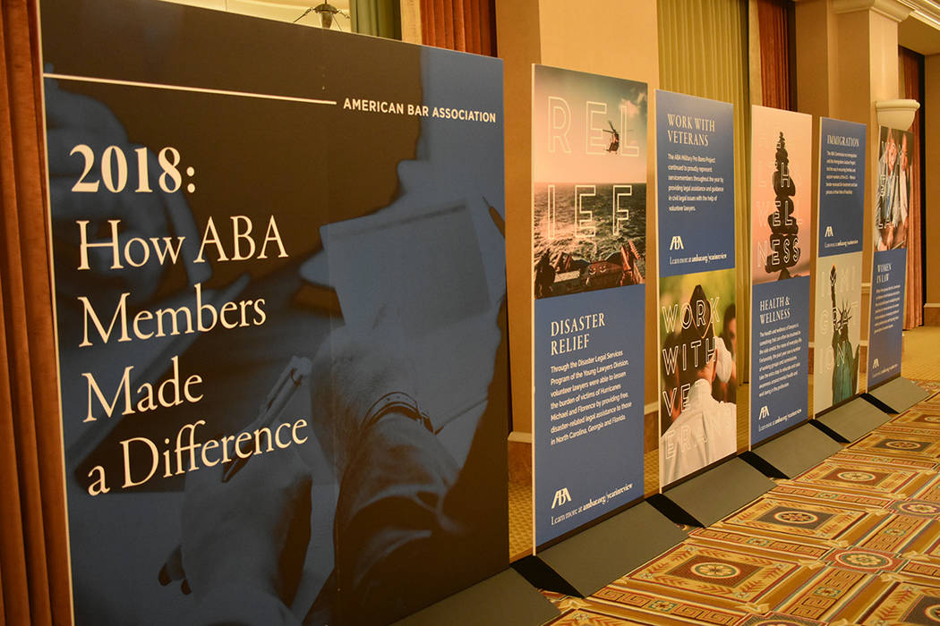 American Bar Association llevó a cabo su convención anual de dos días, donde uno de los temas centrales fue inmigración. Sábado 26 de enero de 2019 en el hotel y casino Caesars Palace. Foto A ...