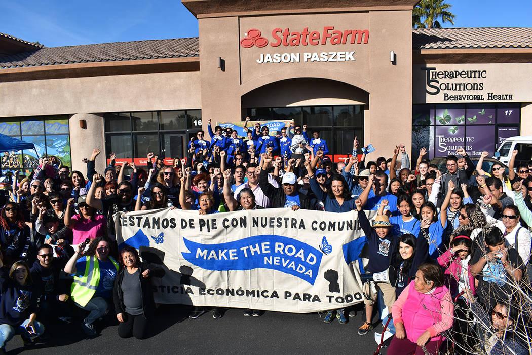 Make The Road Nevada celebró su primer aniversario con marcha y fiesta comunitaria en el Este de Las Vegas, allí develó su plan de justicia económica para el 2019. Sábado 26 de enero de 2019, ...