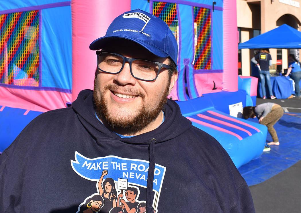 Leo Murrieta, es director ejecutivo de Make The Road Nevada. Sábado 26 de enero de 2019, en el 4250 E. Bonanza Road, Suite 14. Foto Frank Alejandre / El Tiempo.