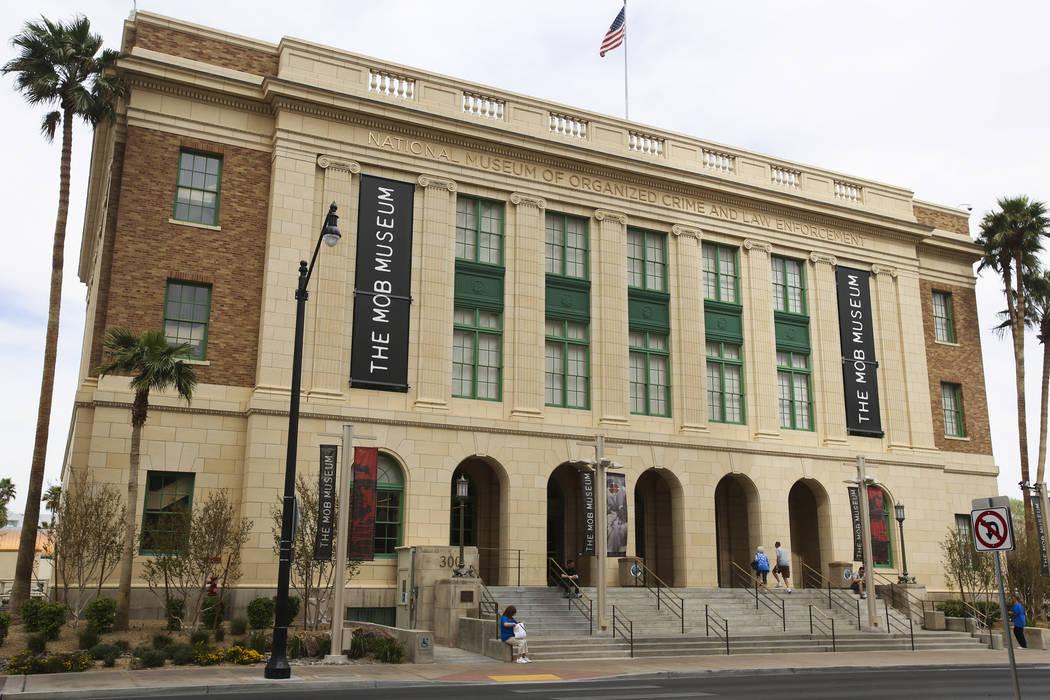 El Museo de la Mafia en 300 Stewart Ave. Se encuentra en el edificio que fue el Tribunal Federal de los Estados Unidos y la Oficina de Correos. (Jeff Scheid / Las Vegas Review-Journal)