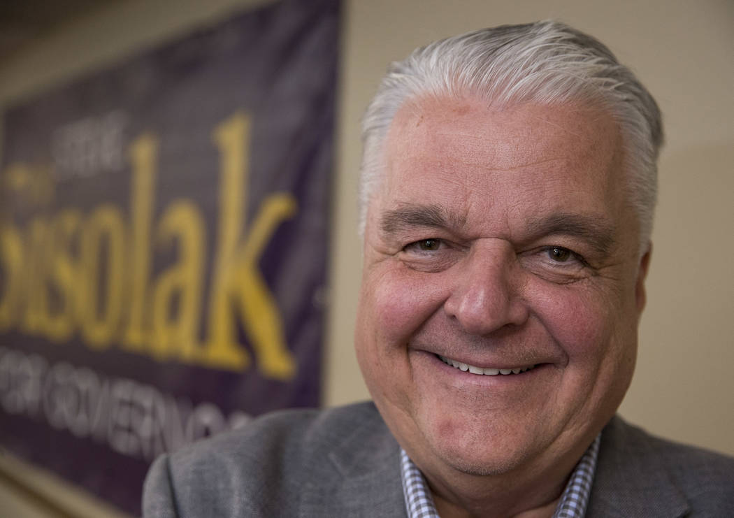Gov. Steve Sisolak. Richard Brian Las Vegas Review-Journal @vegasphotograph