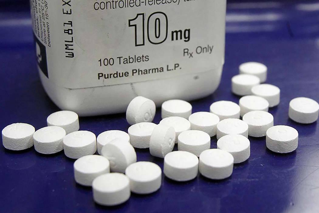 Las pastillas de OxyContin en una foto en una farmacia en Montpelier, Vt. (Foto AP / Toby Talbot)
