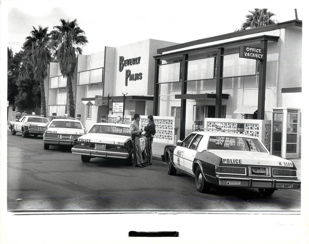The Beverly Palms fue el escenario de un asedio de 90 minutos que comenzó con el asesinato de un hombre en su negocio el 19 de noviembre de 1981 en Las Vegas. (Archivo del Review-Journal)
