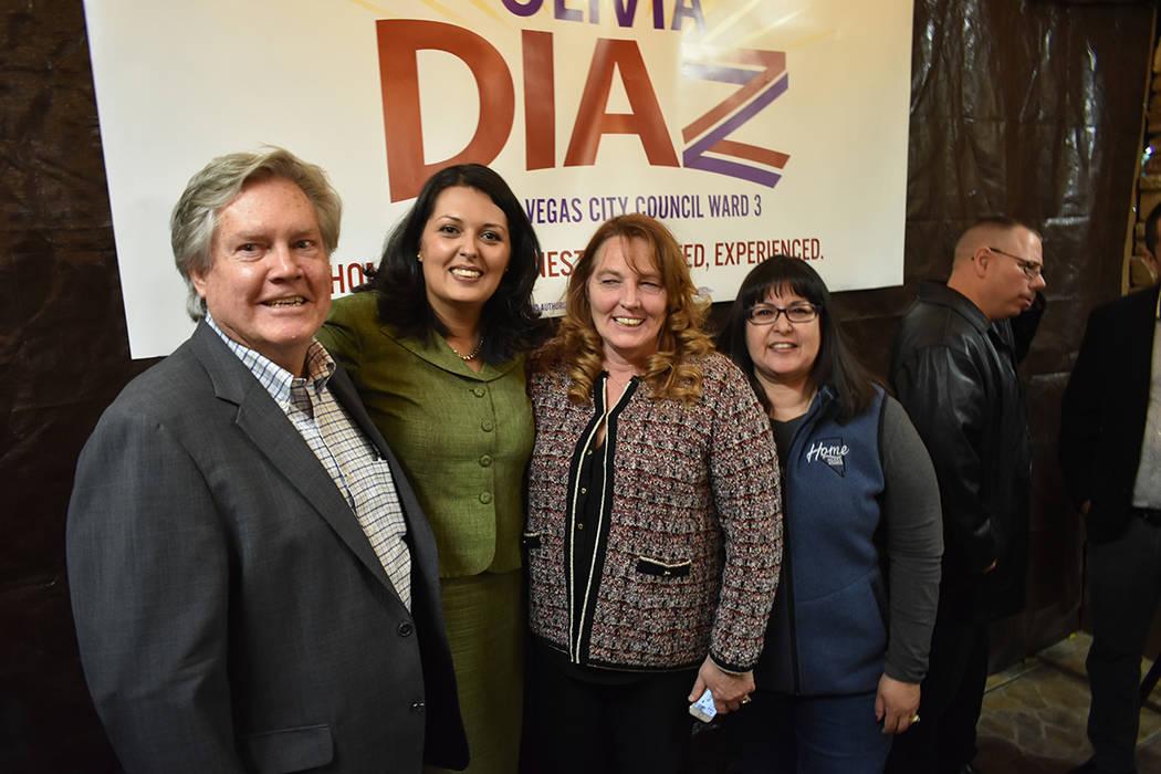 Olivia Díaz cuenta con el apoyo de la presidente de la Comisión del Condado Clark, Marilyn Kirkpatrick, y el comisionado por el Distrito E, Tick Segerblom, en su campaña rumbo al Concejo de Las ...
