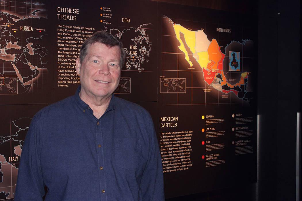 Jeff Burbank, desarrollador de contenido del Museo, busca los mejores conferencistas para los visitantes. Sábado 2 de febrero de 2019 en Museo Nacional del Crimen Organizado. Foto Cristian De la ...