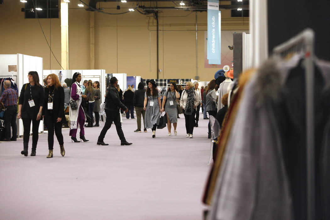 La feria de moda MAGIC en el Mandalay Bay Convention Center en Las Vegas, miércoles 6 de febrero de 2019. (Rachel Aston / Las Vegas Review-Journal) @rookie__rae