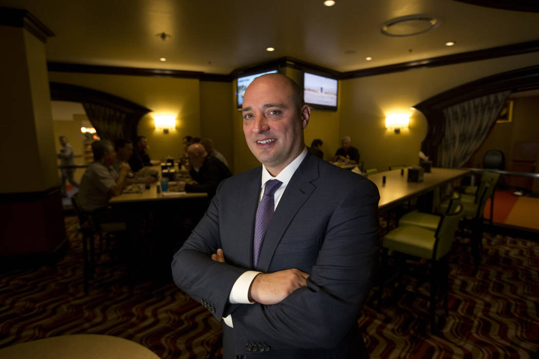 Matt Maddox, CEO de Wynn Resorts Ltd., durante una entrevista con el reportero del Review-Journal, Rick Velotta, el lunes 19 de febrero de 2018. Richard Brian Las Vegas Review-Journal @vegasphotograph