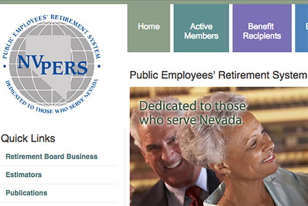 El fondo de pensiones de empleados públicos de Nevada aumentó 2.3 por ciento en el año fiscal que finaliza el 30 de junio, por debajo de la tasa objetivo a largo plazo de un retorno del 8 por c ...