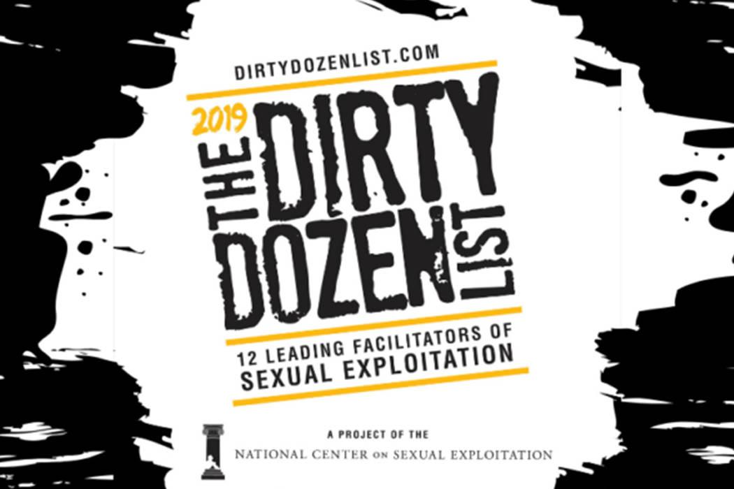 Logo de la lista Dirty Dozen. (Endsexualexploitation.org)