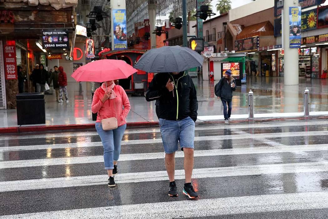 El valle puede esperar un miércoles nublado y más lluvia el jueves. (K.M. Cannon / Las Vegas Review-Journal) @KMCannonPhotoT