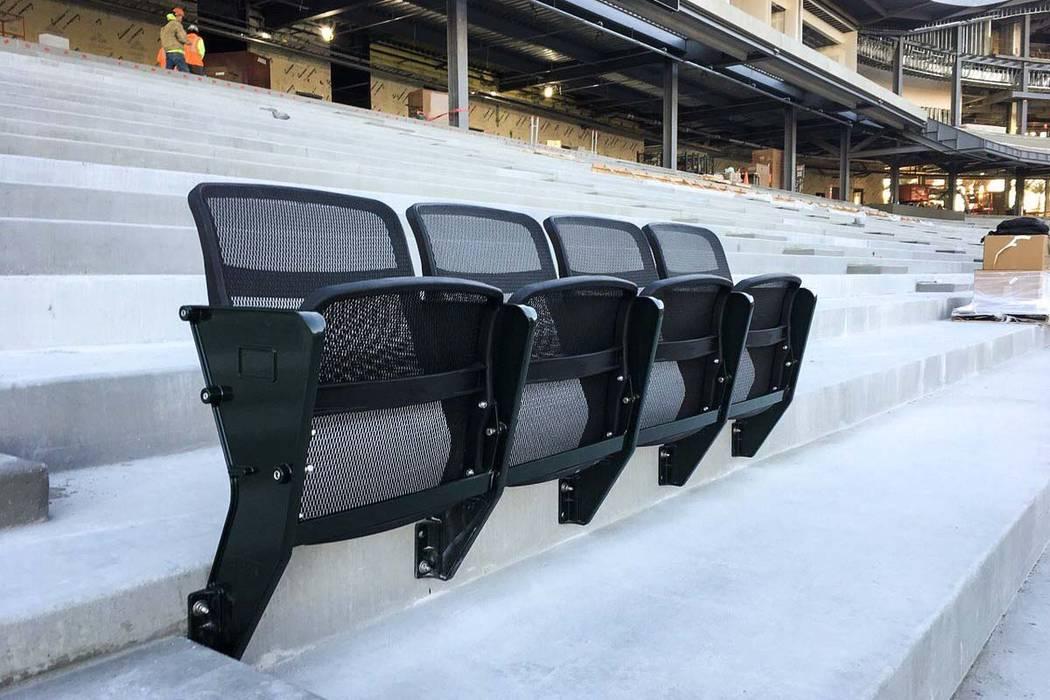 Todos los asientos que se instalarán en el nuevo estadio de béisbol de Las Vegas serán asientos individuales de malla 4Topps AirFlow. (Las Vegas Ballpark / Twitter)