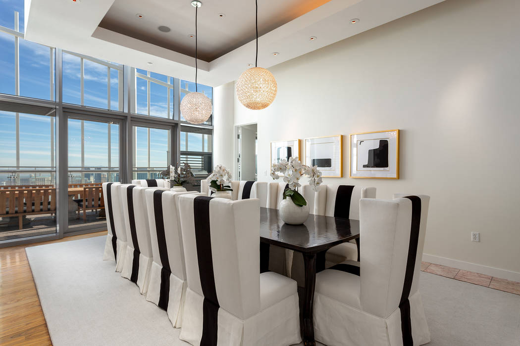 El penthouse en Palms Place de Las Vegas de Phil Maloof está a la venta por $15 millones. (Grupo Ivan Sher)