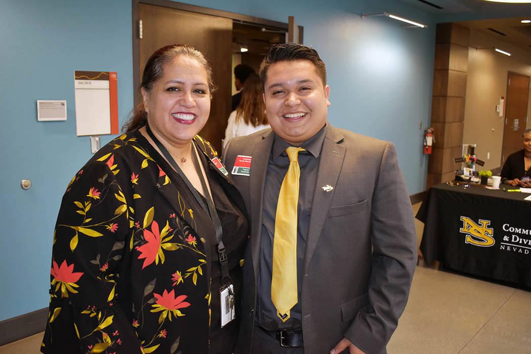 Edith Fernández y Vincent Nava, al frente de la organización del tercer almuerzo anual de divulgación para afroamericanos. Jueves 14 de febrero de 2019 en Nevada State College. Foto Frank Aleja ...