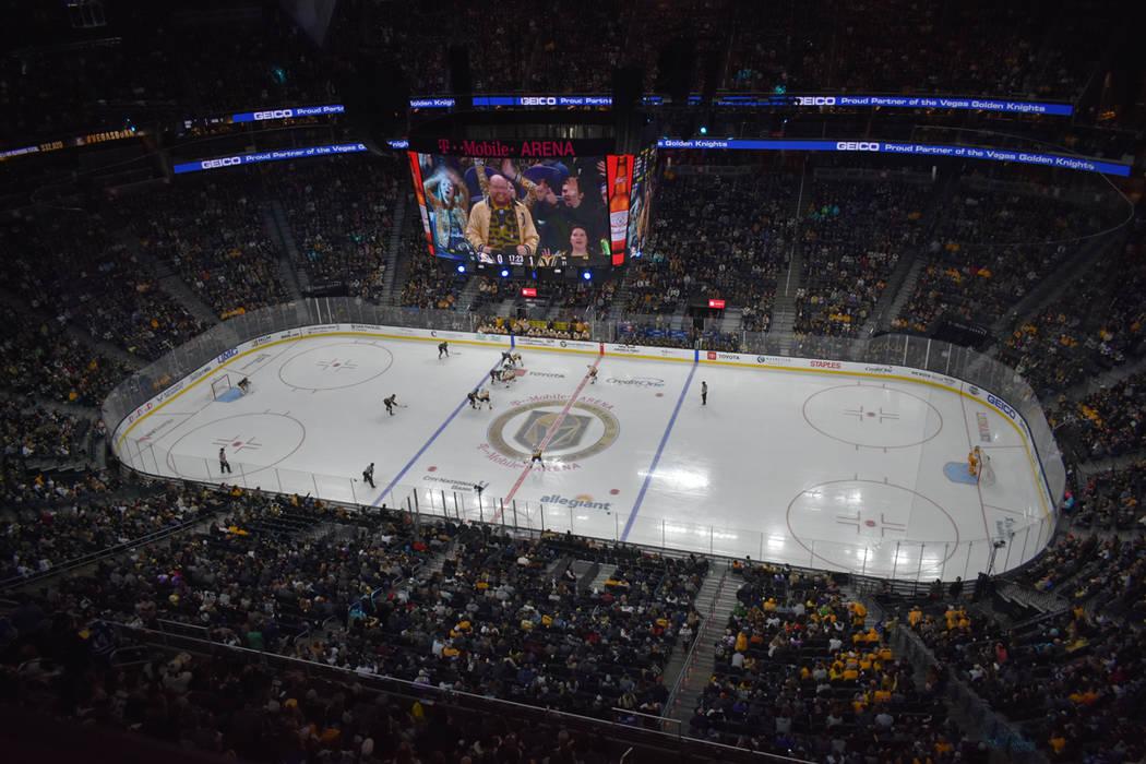 Vegas Golden Knights y Nashville Predators protagonizaron un emocionante encuentro, en el que ambos equipos mostraron una postura ofensiva. Sábado 16 de febrero de 2019 en T-Mobile Arena. Foto An ...