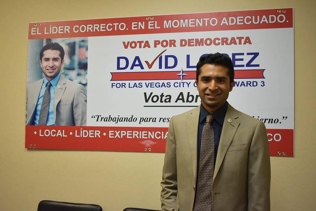David López es un joven de 26 años de edad que está contendiendo por el puesto de Concejal por el Distrito 3 del Ayuntamiento de Las Vegas, la cual es su ciudad natal. Jueves 14 de febrero de 2 ...