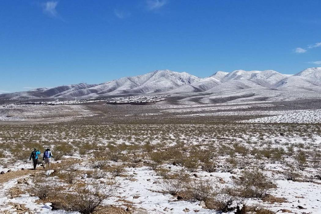 Nevada en el Área de Conservación Nacional de Sloan Canyon cerca de Henderson, lunes 18 de febrero de 2019. (Natalie Burt / Las Vegas Review-Journal)