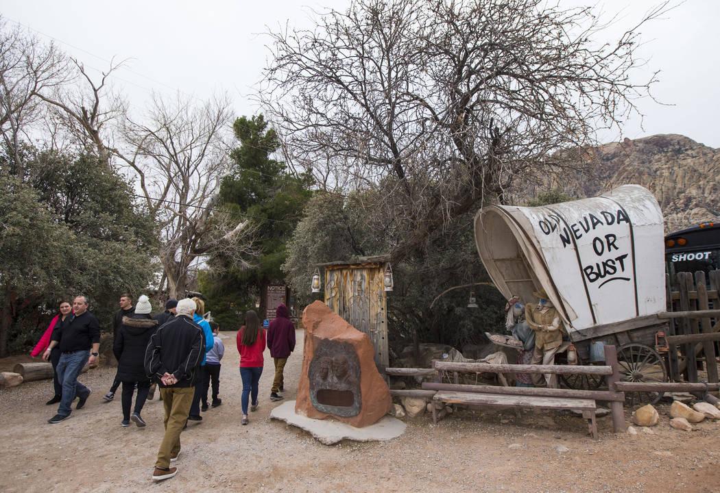 Visitantes en Bonnie Springs Ranch fuera de Las Vegas el sábado 12 de enero de 2019. Chase Stevens Las Vegas Review-Journal @csstevensphoto