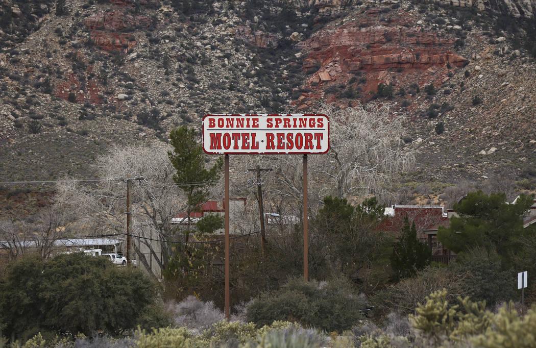La señalización para Bonnie Springs Ranch fuera de Las Vegas el sábado 12 de enero de 2019. La Comisión de Planificación del Condado de Clark el miércoles 20 de febrero de 2019, por la maña ...