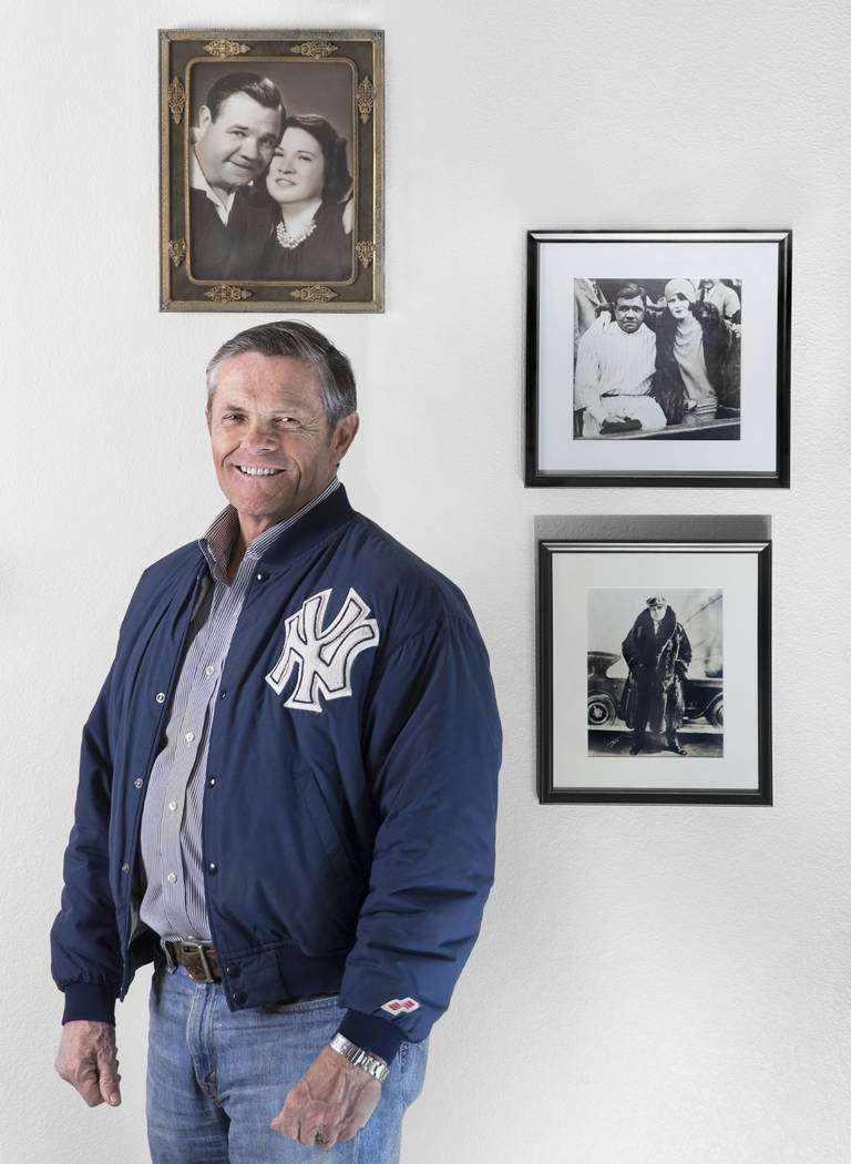 Tom Stevens, nieto de Babe Ruth, el jugador del Salón de la Fama de los Yankees de Nueva York, el jueves 31 de enero de 2019, en la casa de Stevens, en Henderson. (Benjamin Hager / Las Vegas Revi ...
