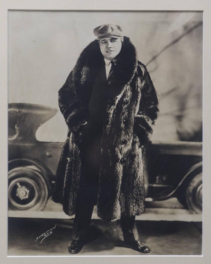 El jueves 31 de enero de 2019, en Henderson, un retrato de Babe Ruth cuelga de la pared de la casa de su nieto Tom Stevens. (Benjamin Hager / Las Vegas Review-Journal) @BenjaminHphoto