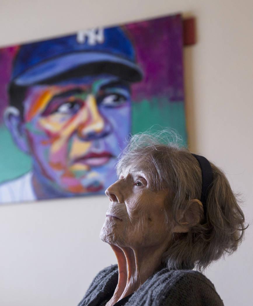 Julia Ruth Stevens, de 102 años, hija del jugador Babe Ruth del Salón de la Fama de los New York Yankees, el sábado 2 de febrero de 2019, en la casa de Stevens, en Henderson. (Benjamin Hager / ...