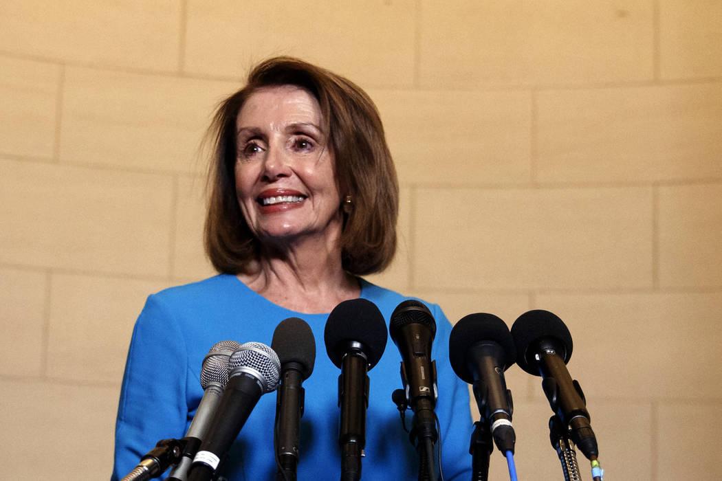 La líder de la mayoría de la Cámara de Representantes, Nancy Pelosi, D-Calif. (Carolyn Kaster / AP)