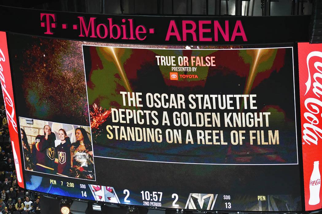 """En el intermedio, se realizó una trivia con la temática de los """"Oscars"""". Viernes 22 de febrero de 2019 en la arena T-Mobile. Foto Frank Alejandre / El Tiempo."""