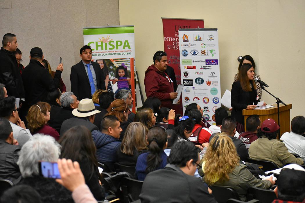Con una amplia participación de la comunidad mexicana, se llevó a cabo el 3º Foro Binacional Migrante. Sábado 23 de febrero de 2019 en UNLV. Foto Anthony Avellaneda / El Tiempo.