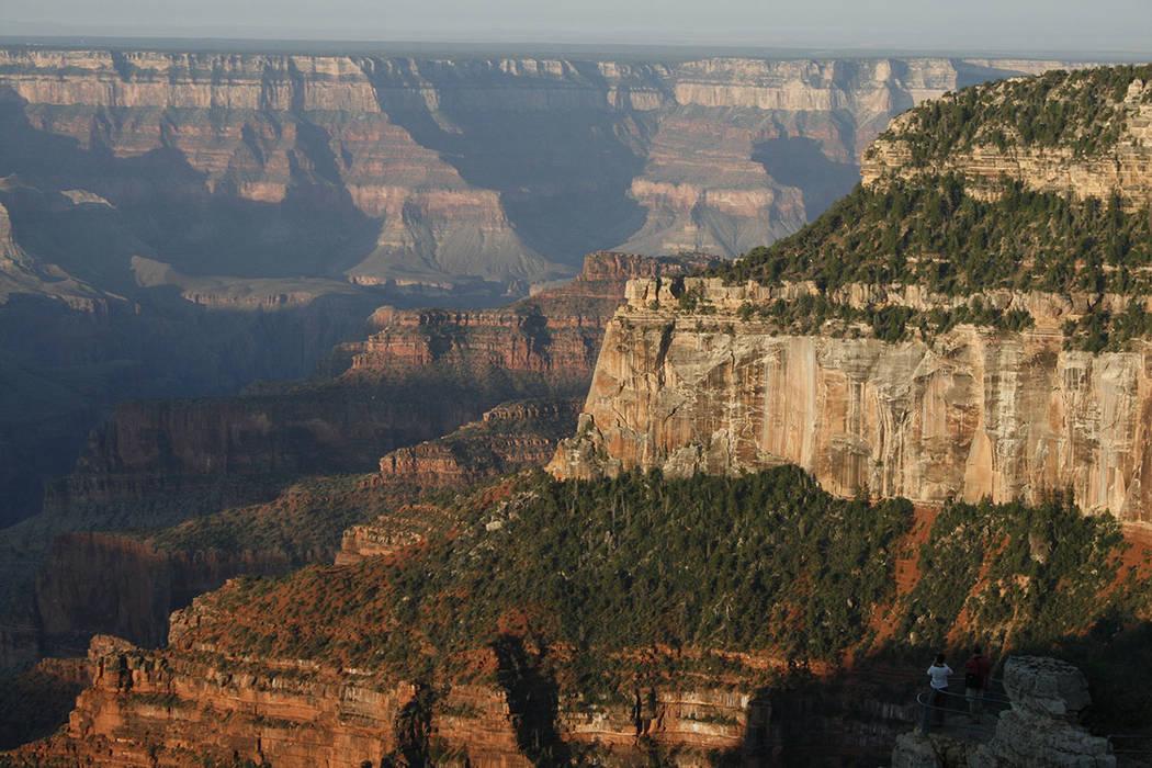 El borde norte del Parque Nacional del Gran Cañón en Arizona (Las Vegas Review-Journal)