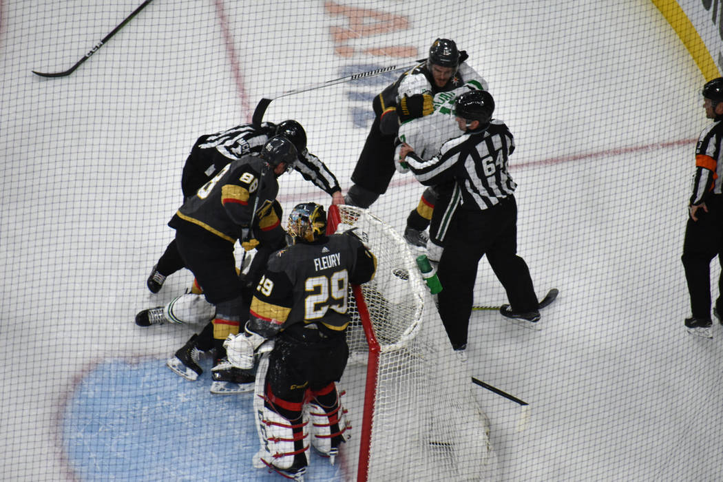 Vegas Golden Knights recibió la visita de Dallas Stars en un partido de la temporada regular de la NHL. Martes 26 de febrero de 2019 en T-Mobile Arena. Foto Anthony Avellaneda / El Tiempo.