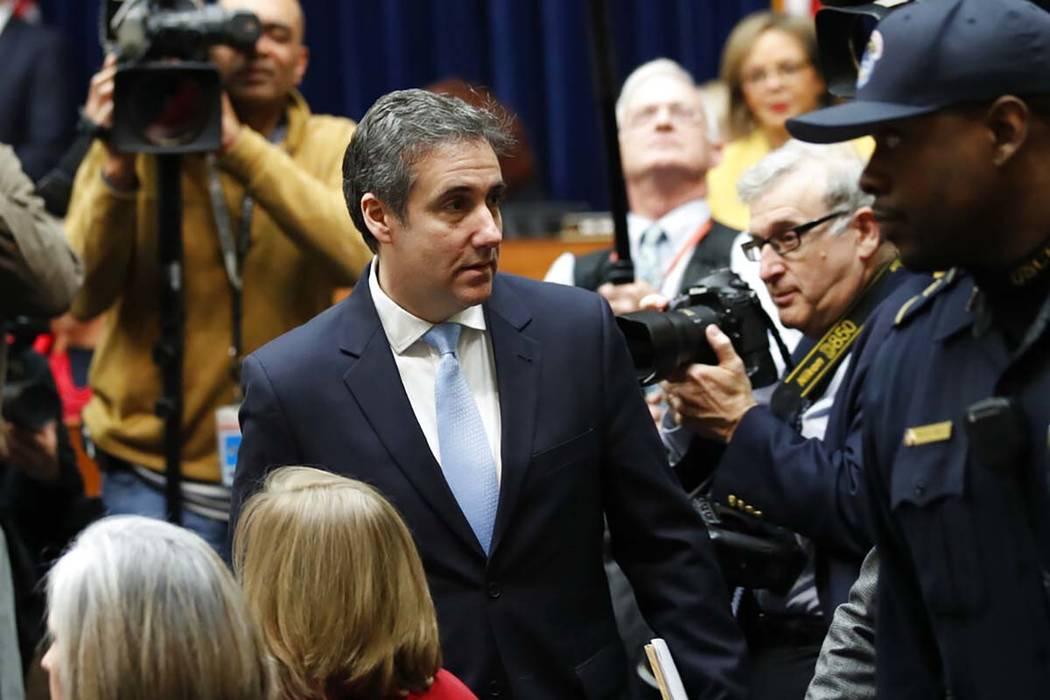 Michael Cohen, el ex abogado personal del presidente Donald Trump, llega a declarar ante el Comité de Supervisión y Reforma de la Cámara de Representantes en Capitol Hill, el miércoles 27 de f ...