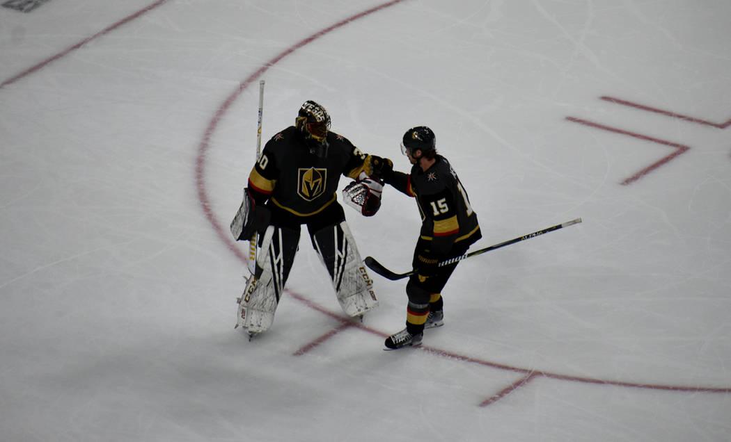 Vegas Golden Knights y Florida Panthers mostraron una gran intensidad de juego sobre la pista de hielo. Jueves 28 de febrero de 2019 en T-Mobile Arena. Foto Anthony Avellaneda / El Tiempo.
