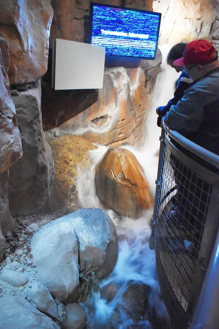 Las inundaciones repentinas fueron recreadas en una propuesta interactiva, bastante real. Domingo 24 de febrero de 2019 en el Springs Preserve. Foto Frank Alejandre / El Tiempo.