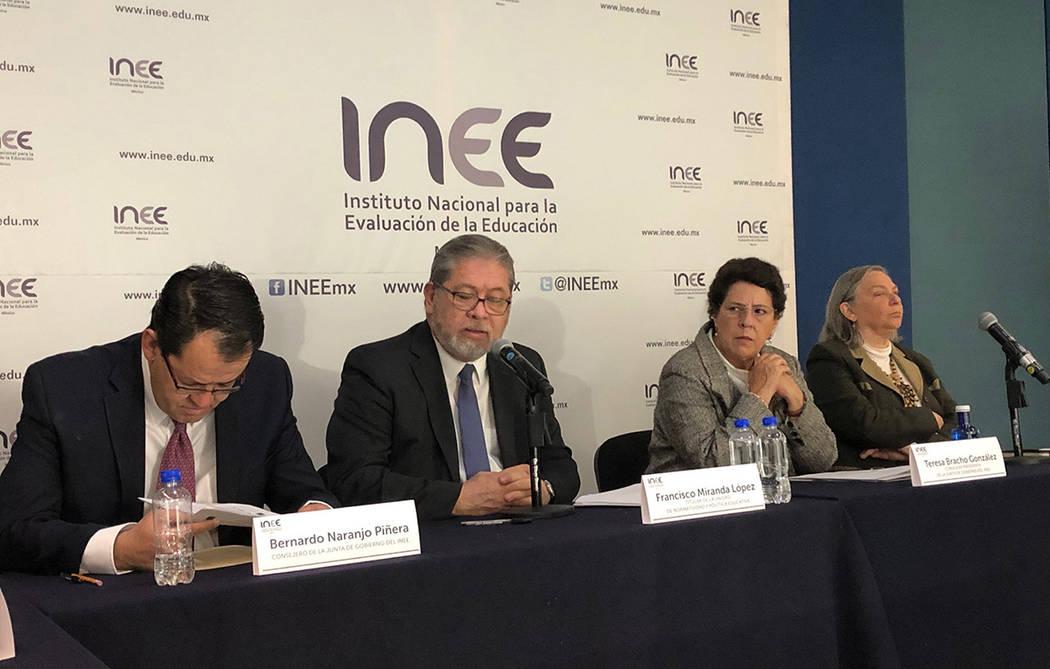 ARCHIVO. México, 10 Dic 2018 (Notimex-Especial).- El Instituto Nacional de la Evaluación para la Educación estima una reducción de 20 por ciento en su presupuesto para 2019, en comparación co ...