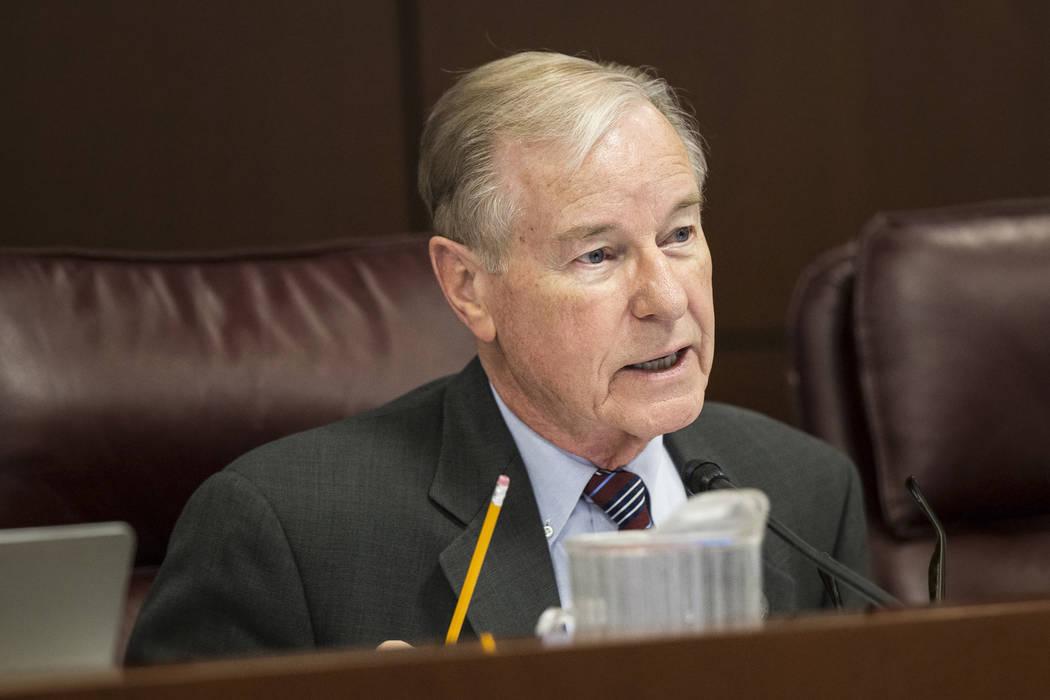 El senador David Parks, D-Las Vegas, visto en febrero de 2017 en el edificio legislativo en Carson City. (Benjamin Hager / Las Vegas Review-Journal)