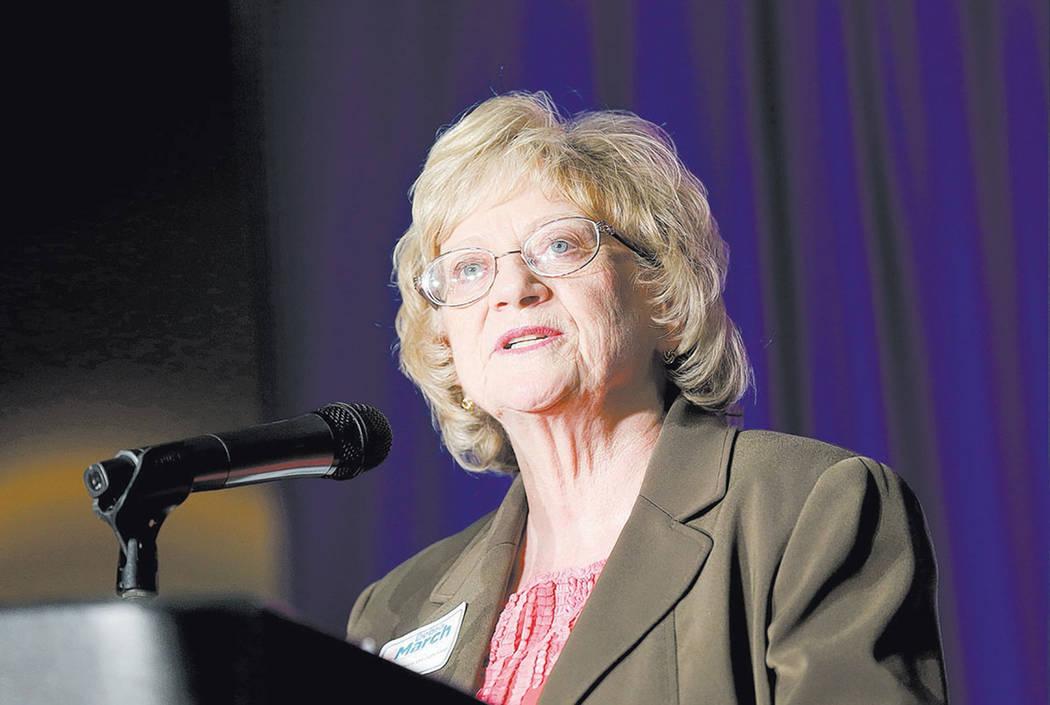 La senadora estatal de Nevada, Joyce Woodhouse, ven 2016 (Las Vegas Review-Journal)
