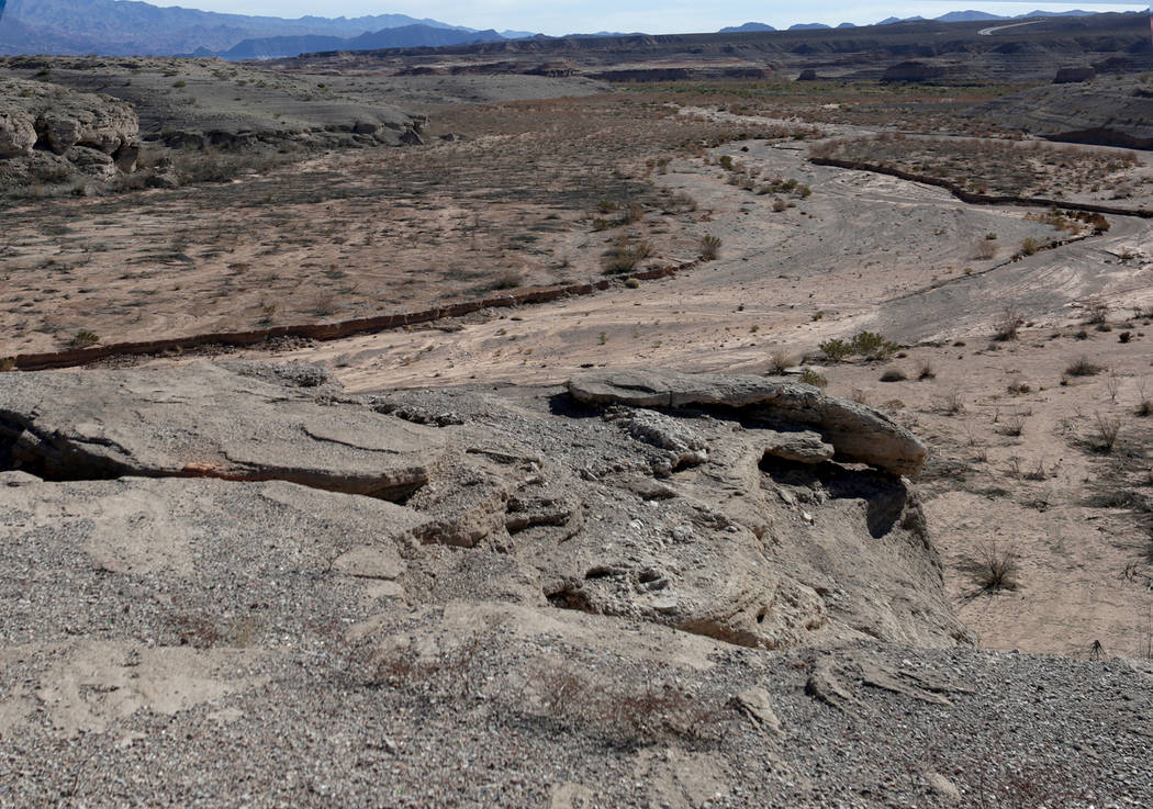 Gypsum Point en Lake Mead National Recreation Area, visto el 25 de enero de 2019. (Michael Quine / Las Vegas Review-Journal) @ Vegas88s