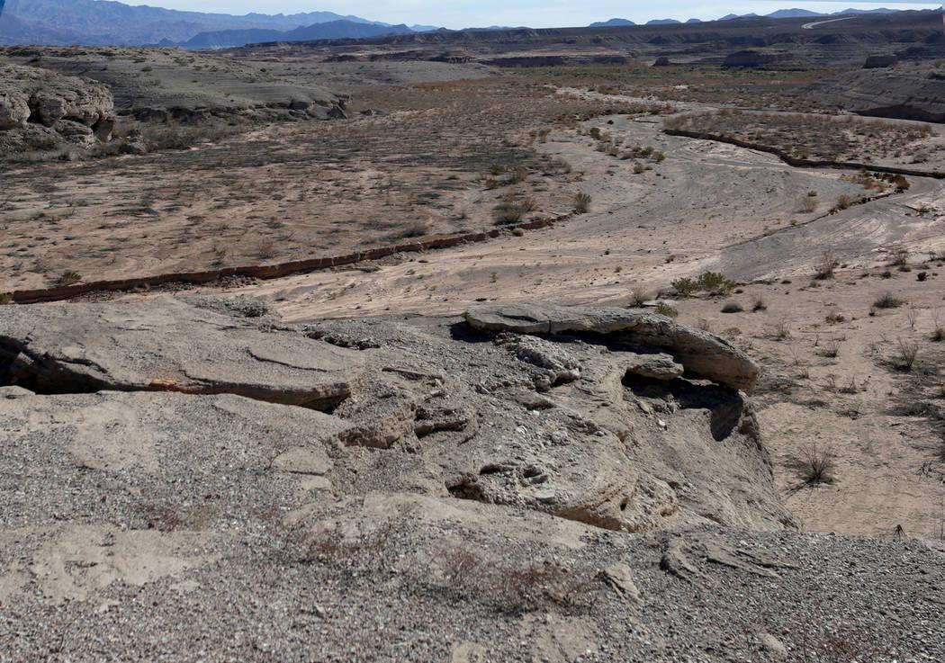 Gypsum Point en Lake Mead National Recreation Area, visto el 25 de enero de 2019. (Michael Quine / Las Vegas Review-Journal) @ Vegas88s
